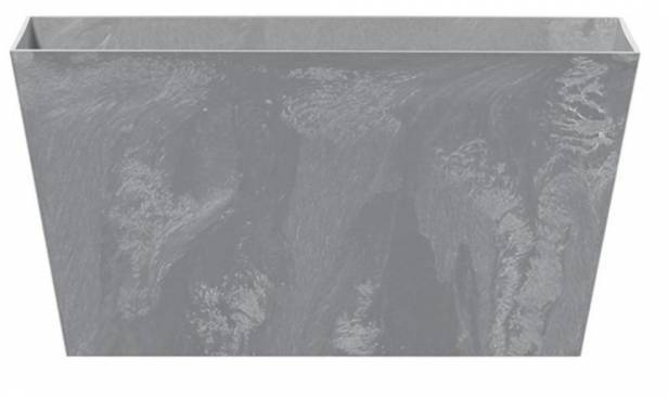Kvetináč/truhlík TUBUS CASE BETON EFFECT, 40 x 21,6 cm, výška 20 cm, sivý