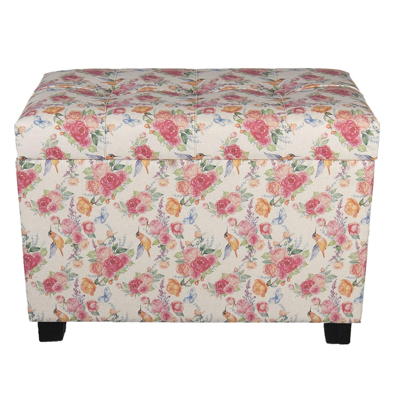 Kvetovaná stolička, taburet Rose -60*36*43 cm