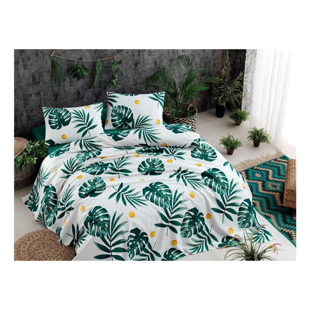 Ľahká prešívaná prikrývka cez posteľ Ramido Jungle, 140 × 200 cm