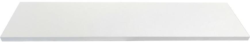 Laminátová regalova polica 1,8x30x120cm biela