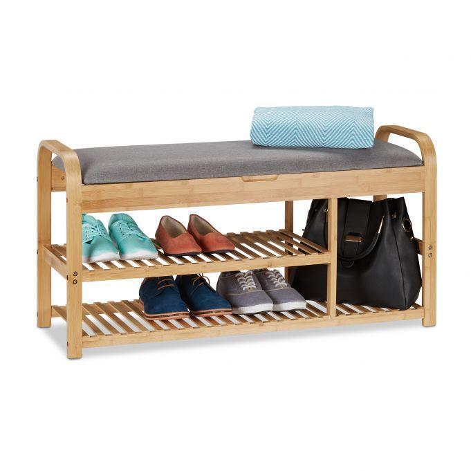 Lavica na topánky so sedadlom a úložným priestorom, RD0565
