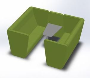 LD SEATING 3-místný box MEETING PORT KM3/BR-01
