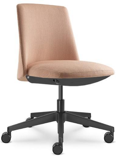 LD SEATING Kancelárske kreslo MELODY DESIGN 775-FR-N1, kríž hliník čierny