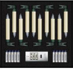 LED bezdrôtové osvetlenie vianočného stromčeka Lumix SuperLight Basis, vonkajšie/vnútroné 74422, na batérie, N/A, 12.5 cm