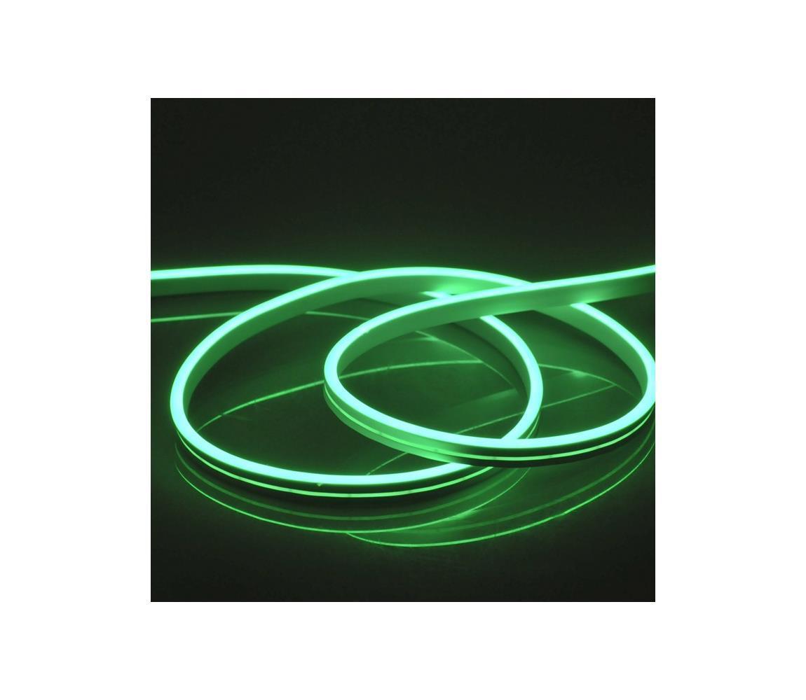 LED Pásik NEON 5 m LED/23W/12V IP65 zelená