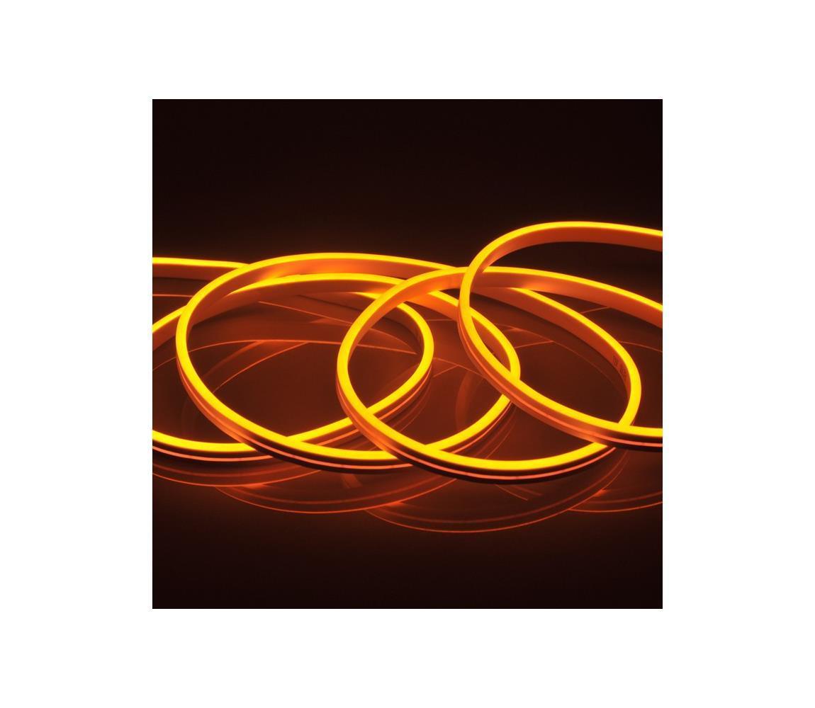 LED Pásik NEON 5 m LED/27W/12V IP65 oranžová