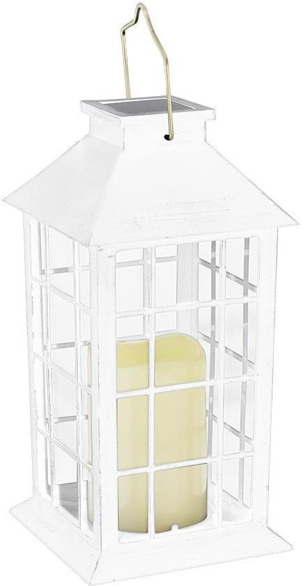 LED Solárne svietidlo biela
