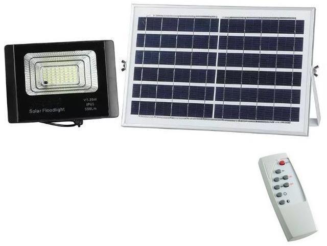LED Stmievateľné vonkajšie solárne svietidlo LED/12W/3,2V 6000K IP65 + DO