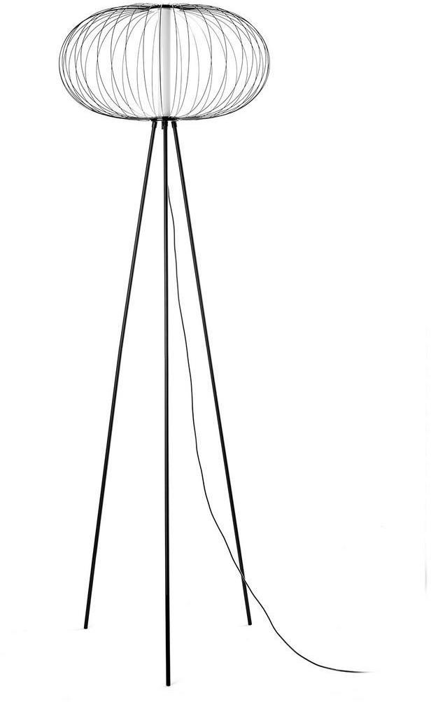 Led-stojaca Lampa Amos Čierna