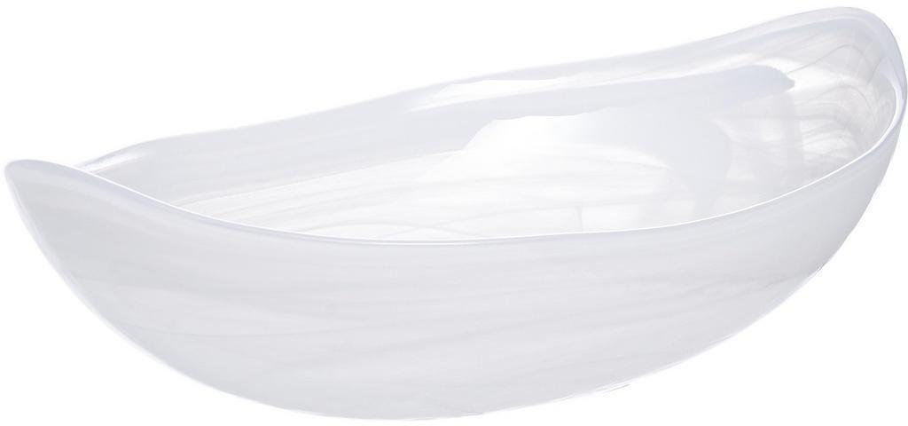 Leonardo MISKA, sklo, 22 cm - biela