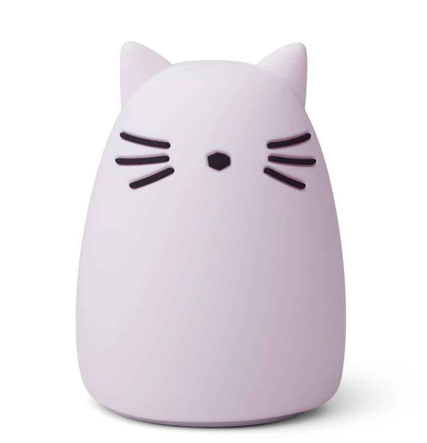 LIEWOOD Detská nočná lampička Winston Cat Light Lavender