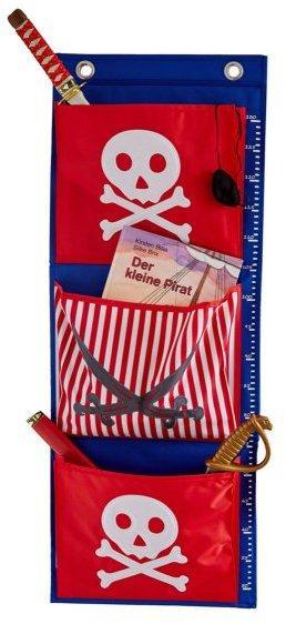 LOVE IT STORE IT - Závesný organizér Piráti – červený s bielym pirátom