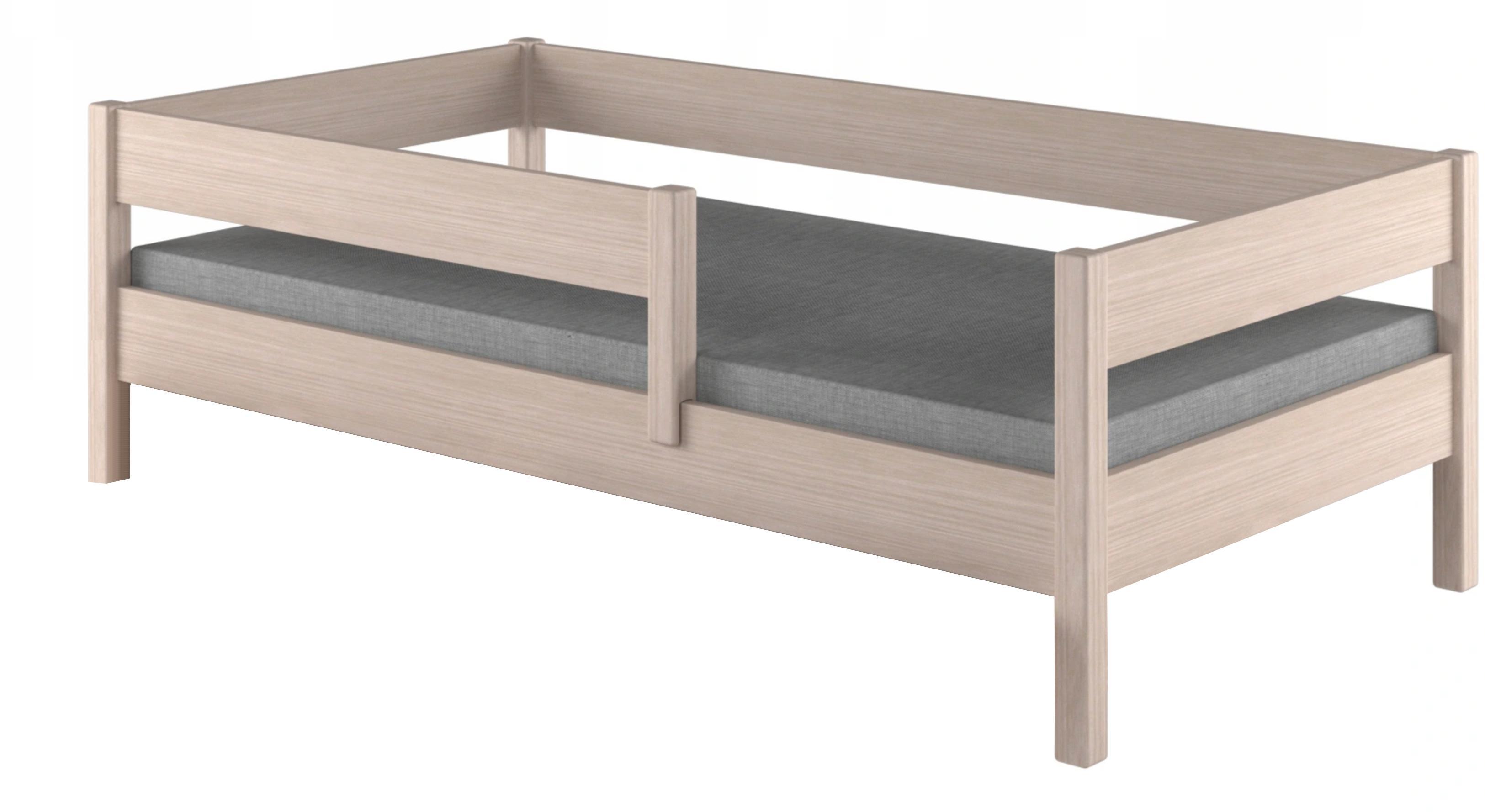LU Detská posteľ Mix so zábranou - dub bielený Rozmer: 180x80