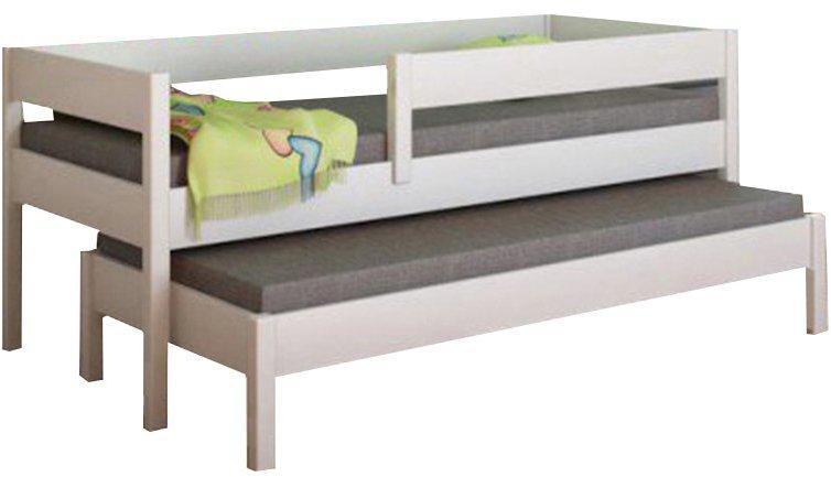 LU Detská posteľ s prístelkou Junior - biela Rozmer: 200x90