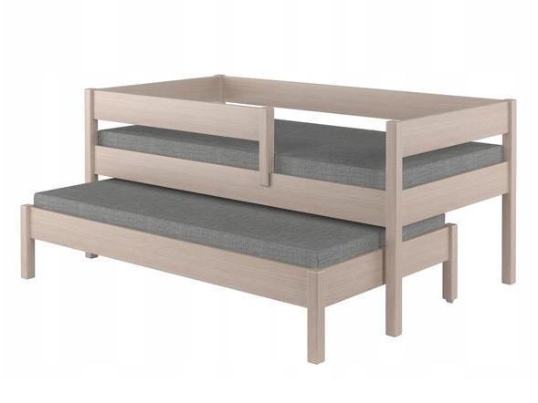 LU Detská posteľ s prístelkou Junior - dub bielený Rozmer: 200x90