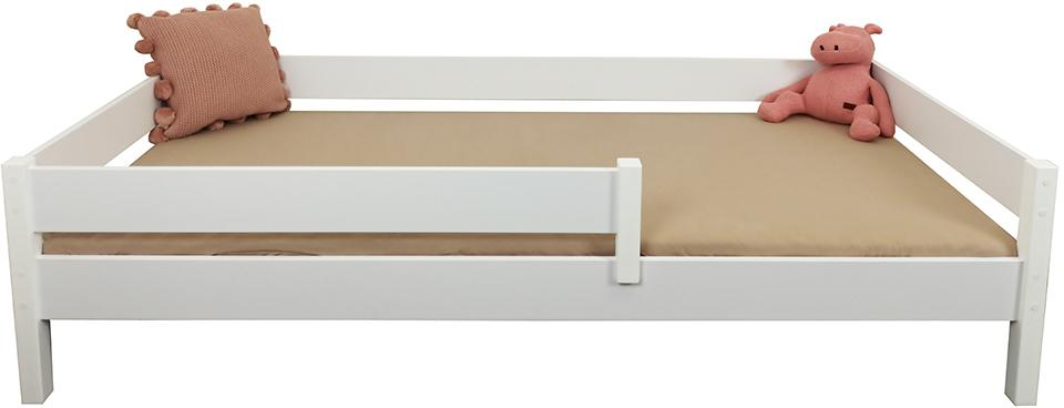LU Detská posteľ so zábranou Mix - biela Rozmer: 140x70