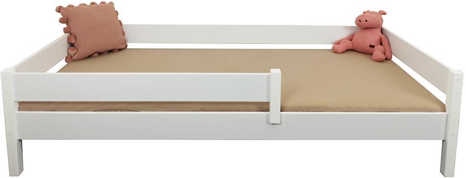 LU Detská posteľ so zábranou Mix - biela Rozmer: 160x80