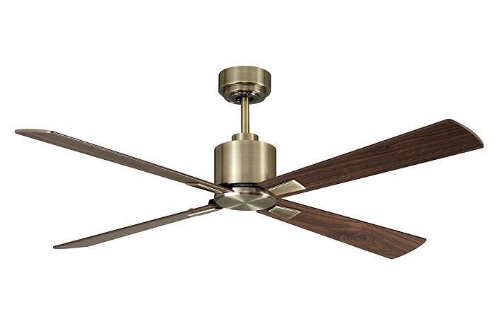 """LUCCI AIR AIRFUSION CLIMATE 210522 52"""" antická mosadz/tmavé drevo Reverzný stropný ventilátor"""