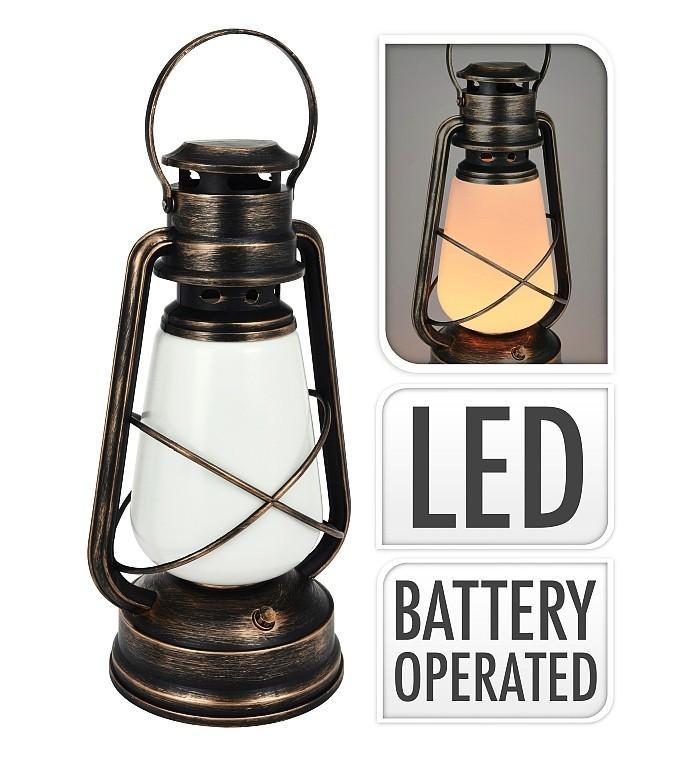 Lucerna s LED plamenem 56 cm