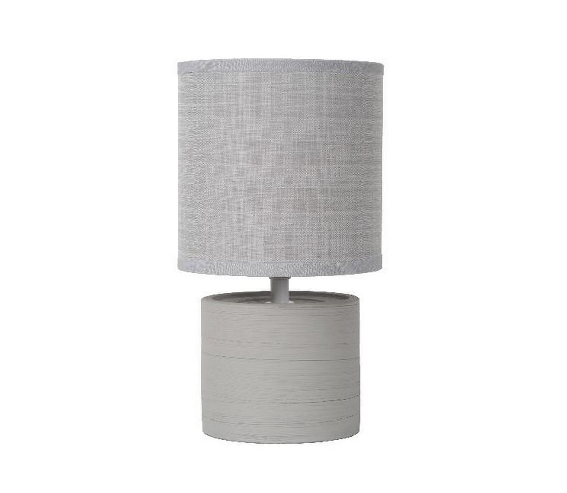 Lucide 47502/81/36 - Stolná lampa GREASBY 1xE14/40W/230V šedá