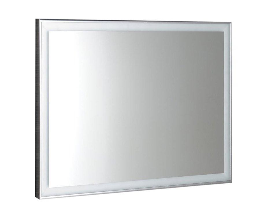 Luminar NL556 zrkadlo v ráme s LED osvetlením 70x50 cm, chróm