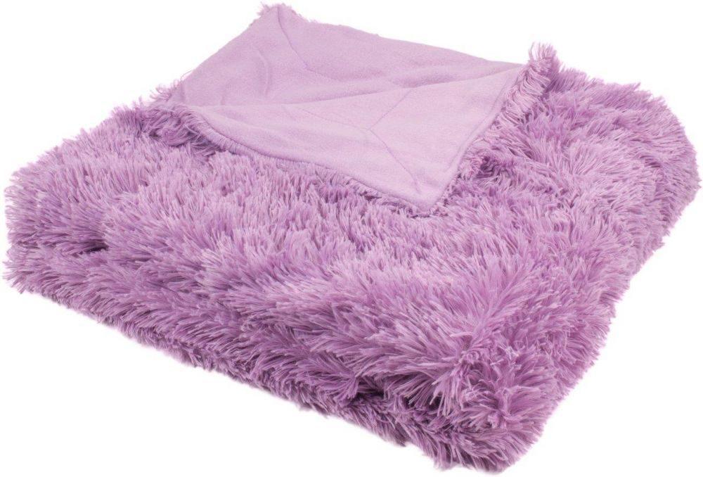 Luxusná deka s dlhým vlasom 150x200 - Fialová