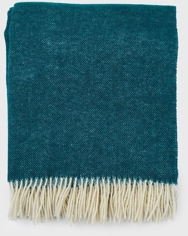 Luxusná deka z novozélandskej vlny tyrkysová