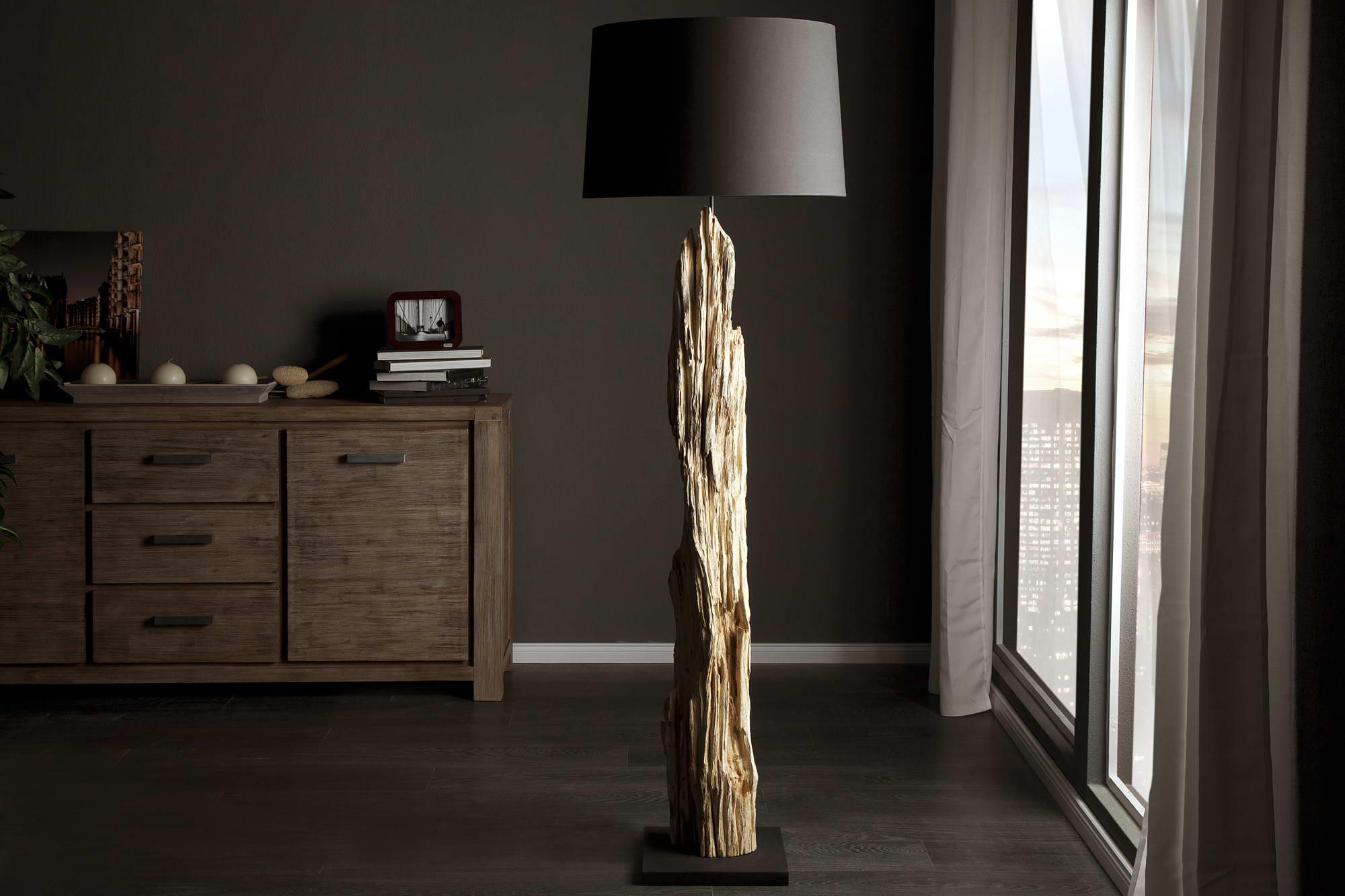 Luxusná stojanová lampa Stump čierna