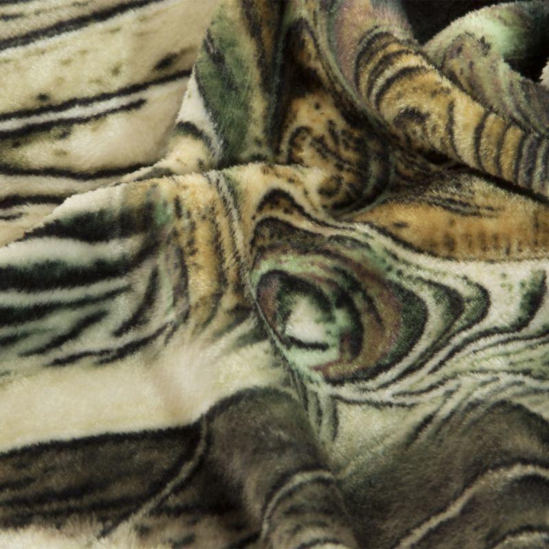 Luxusní deka z mikrovlákna EVA 02 tyrkysová/béžová 150x200 cm Mybesthome