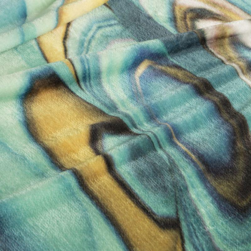 Luxusní deka z mikrovlákna EVA 09 tyrkysová/žlutá 150x200 cm Mybesthome