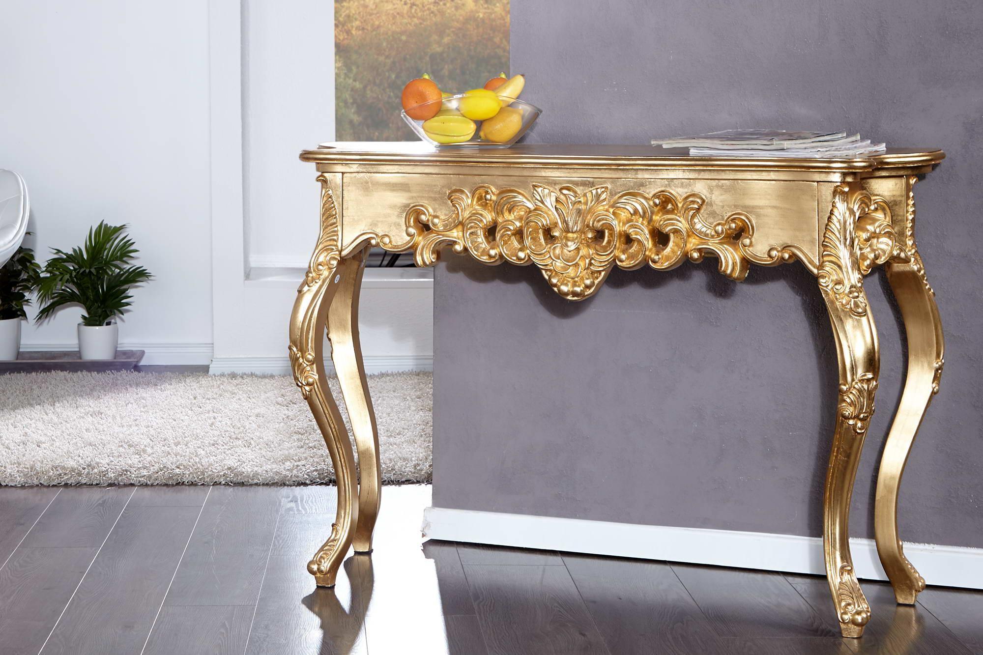 Luxusný toaletný stolík Veneto zlatý