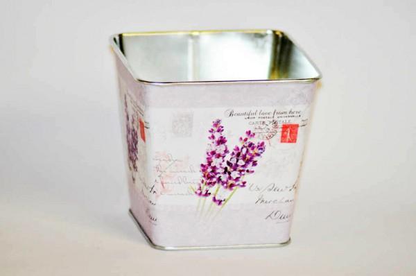 MAKRO - Kvetináč plech hranatý 9,5cm Levanduľa