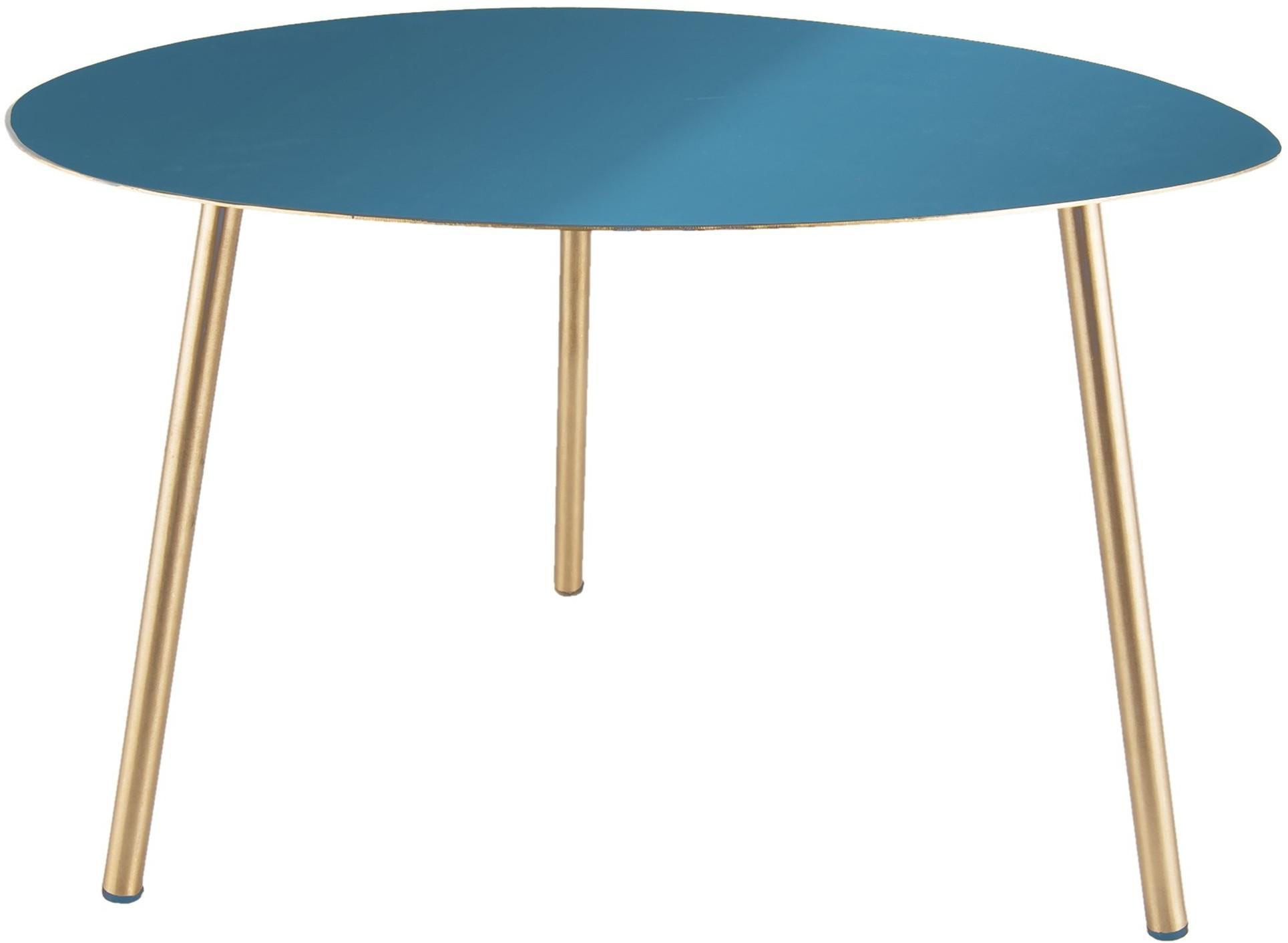 Malý modro-zlatý stolík Ovoid