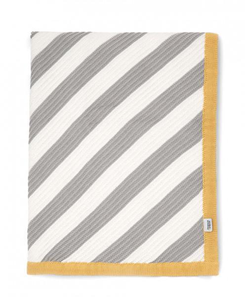 MAMAS & PAPAS - Pletená deka pruhy diagonálne