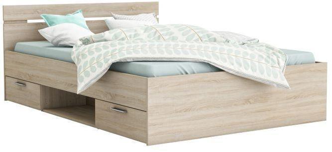 Manželská posteľ 140 cm Myriam (dub sonoma)