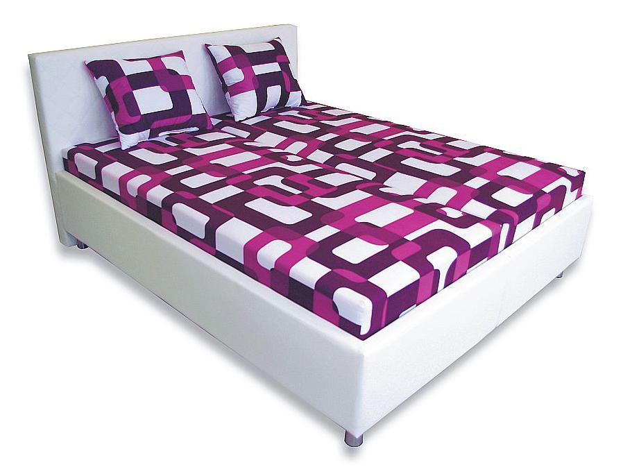 Manželská posteľ 160 cm Leona 1 (s penovými matracmi)