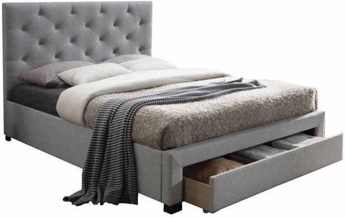 Manželská posteľ 160 cm Shemika (s roštom a úl. priestorom)