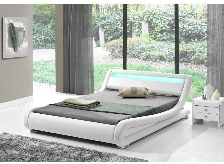 Manželská posteľ 180 cm Fanil (s roštom a LED)