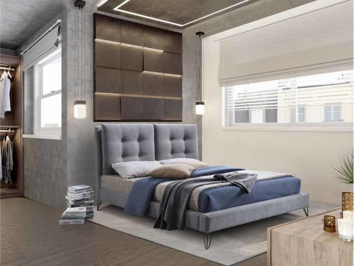 Manželská posteľ 180 cm Kolia (s roštom)