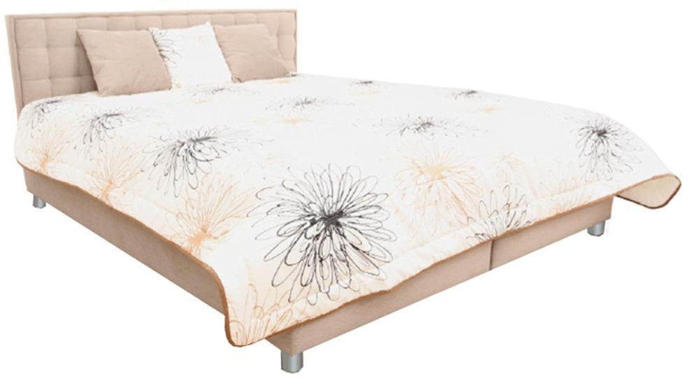 Manželská posteľ, svetlohnedá/vzor, 180x200, BORI