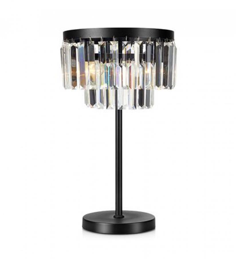 Markslöjd 107773 - Krištáľová stolná lampa VENTIMIGLIA 3xE14/40W/230V