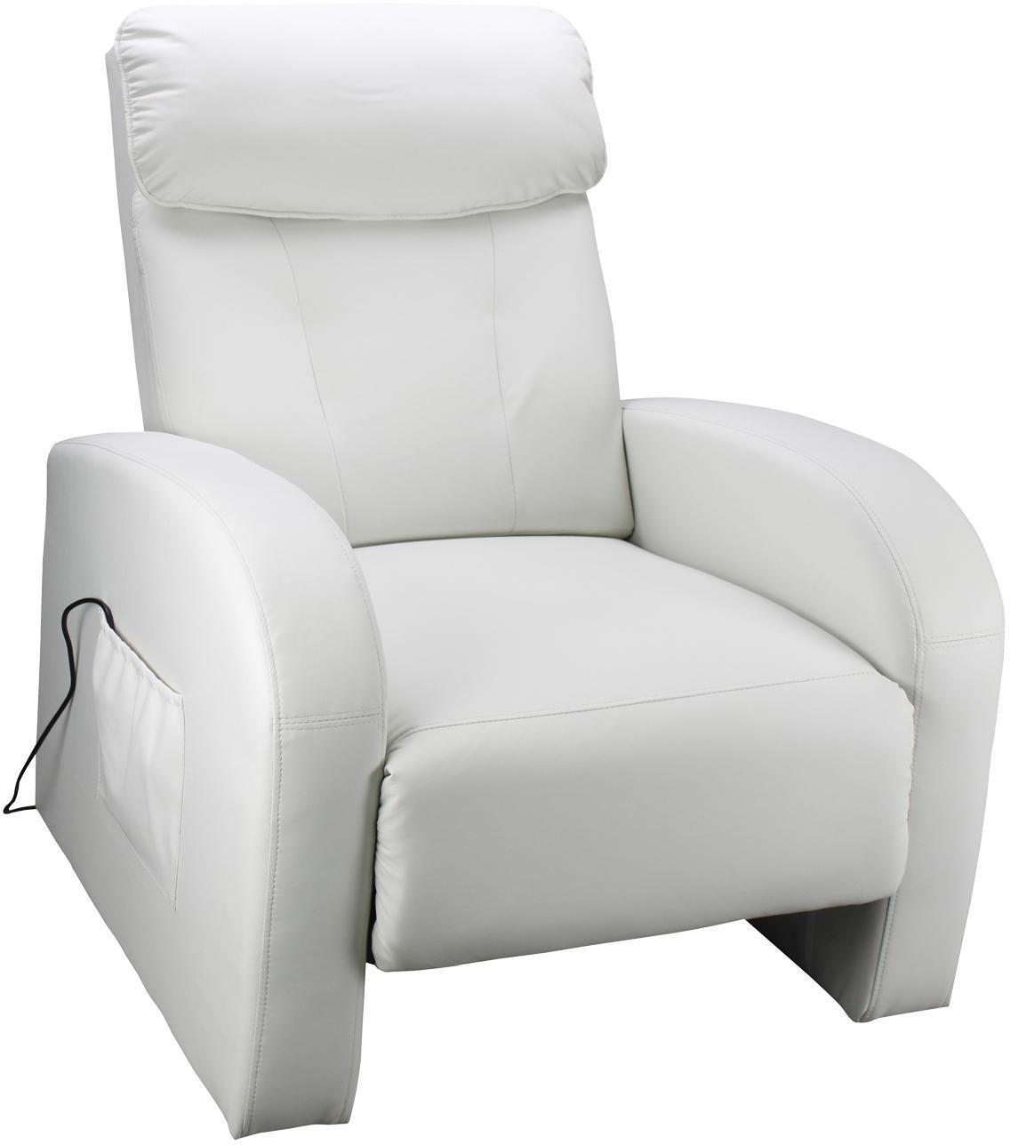 Masážné kreslo TOLEDO krémovo biele K70