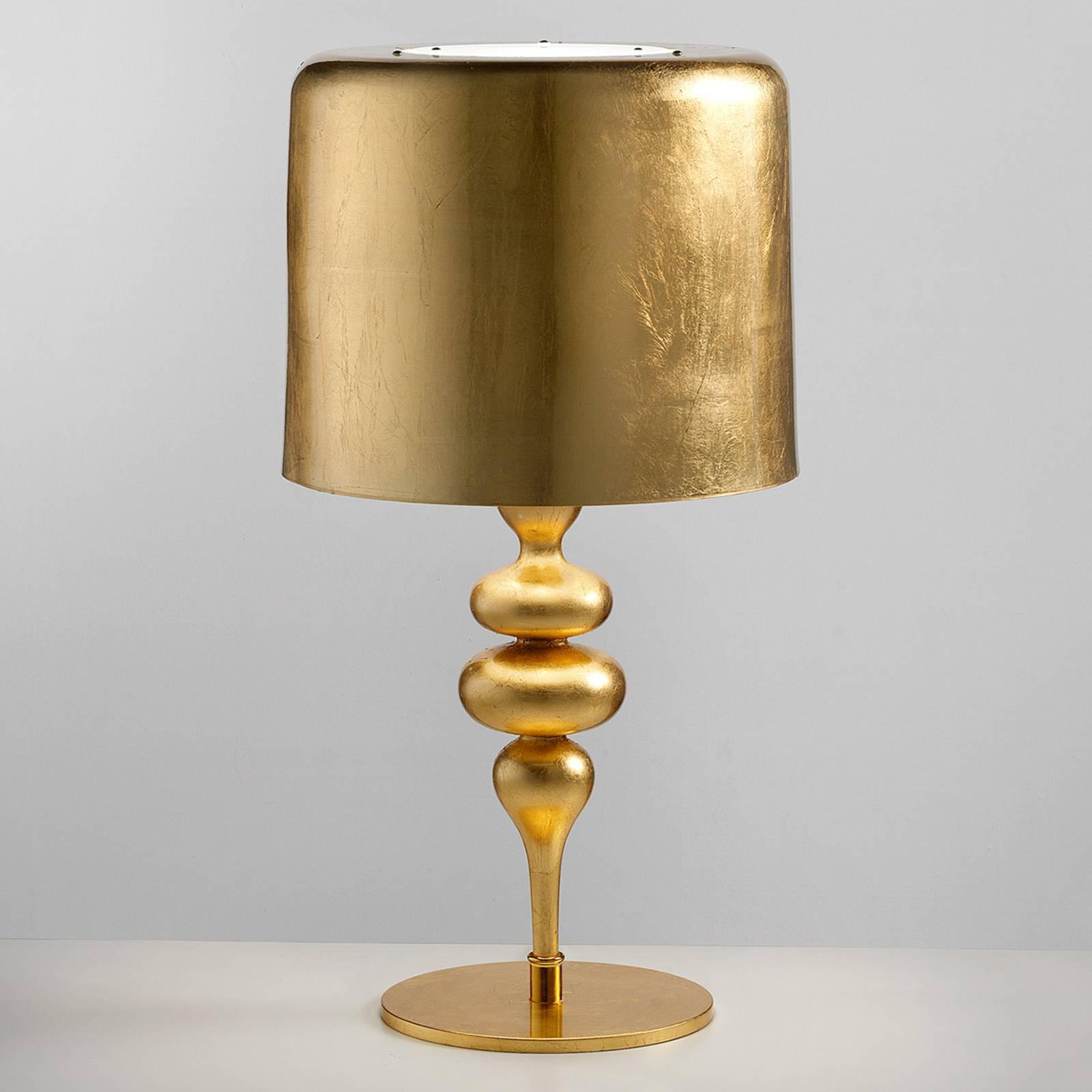 Masiero Stolová lampa Eva TL3+1G 75cm, zlatá