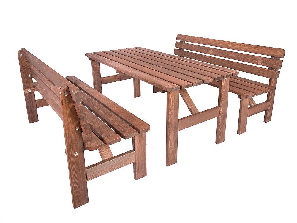 Masívna drevená zostava z borovice 1+2 morená 30 mm (rôzne dĺžky) 180 cm