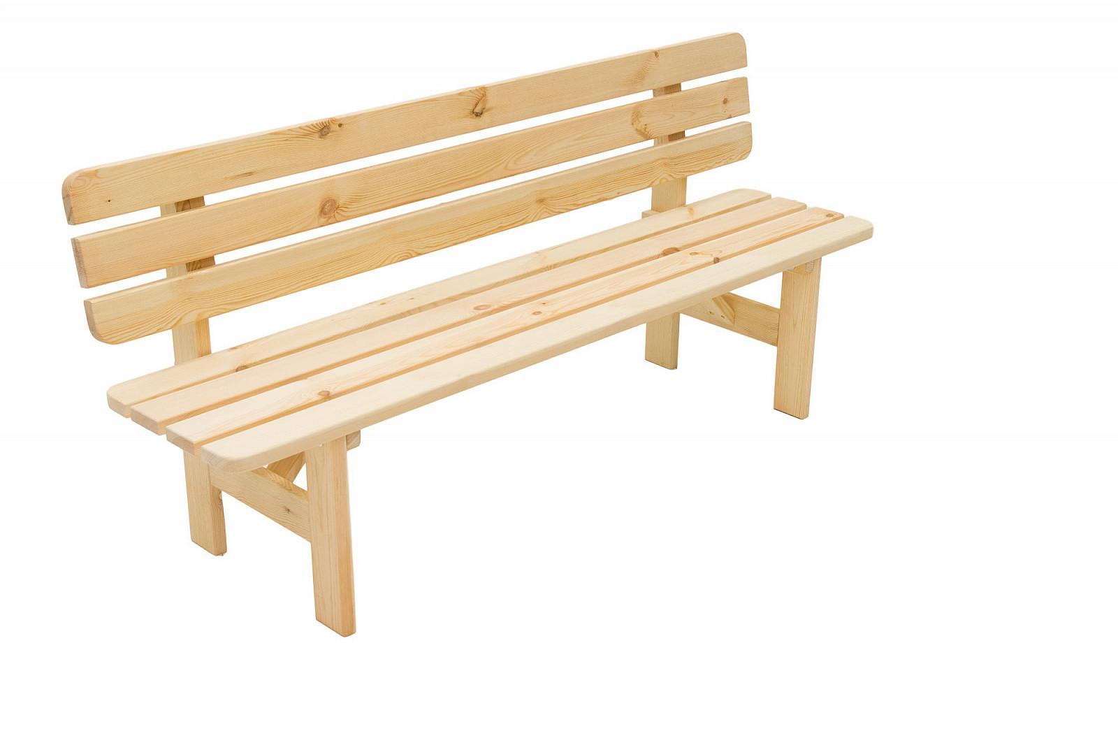Masívna lavica z borovice drevo 30 mm (rôzne dĺžky) 180 cm