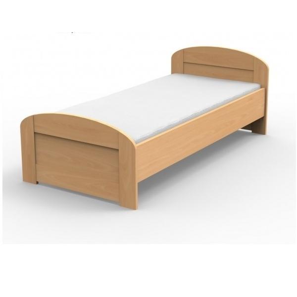 Masívna posteľ PETRA s oblým čelom pri nohách Veľkosť: 200 x 120 cm, Materiál: BUK morenie čerešňa
