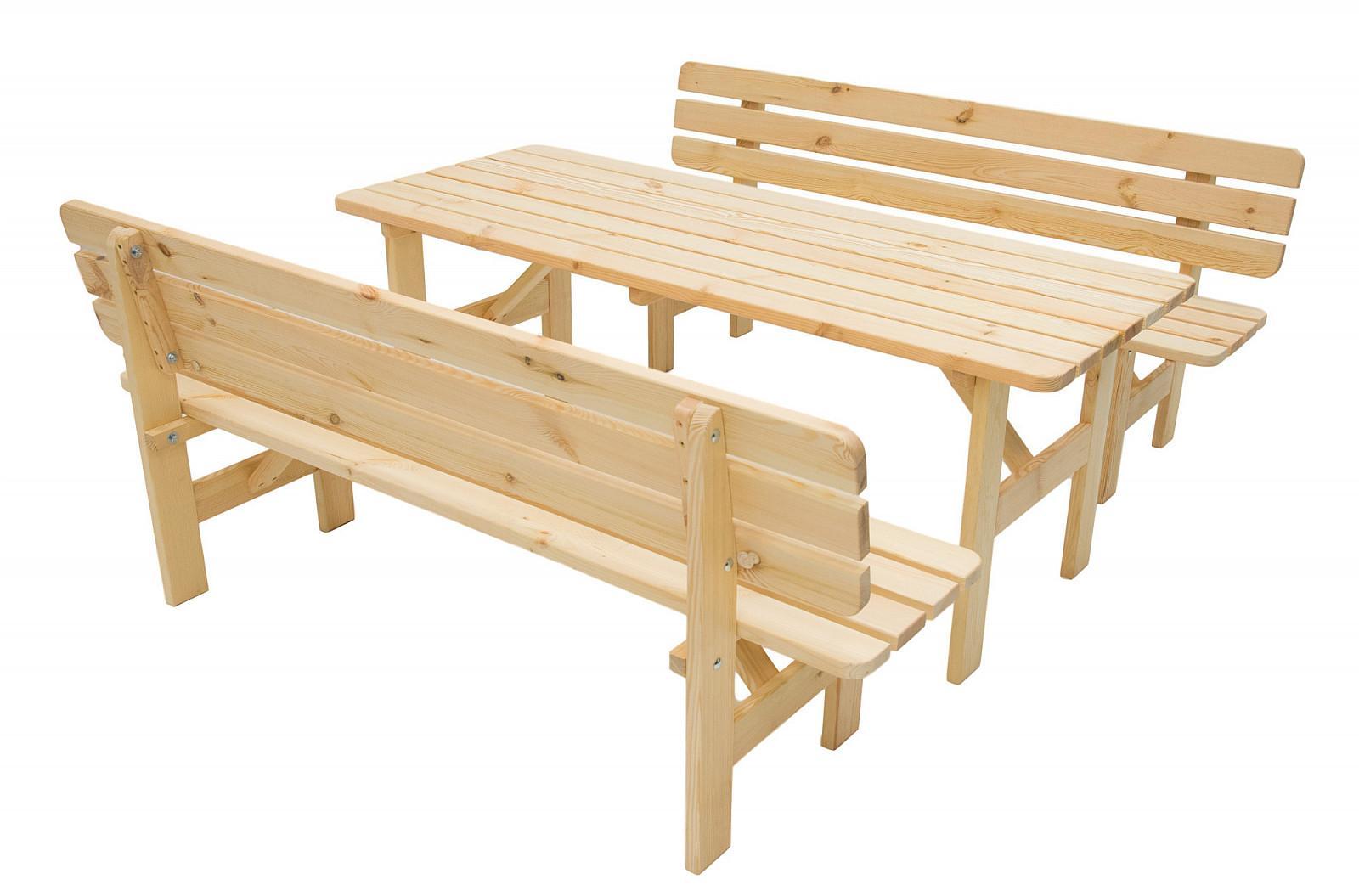 Masívna zostava z borovice 1+2 drevo 30 mm (rôzne dĺžky) 200 cm