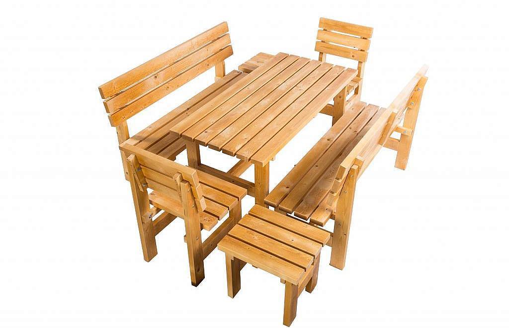 Masívny drevená záhradná zostava TEA 1+6 drevo 38 mm