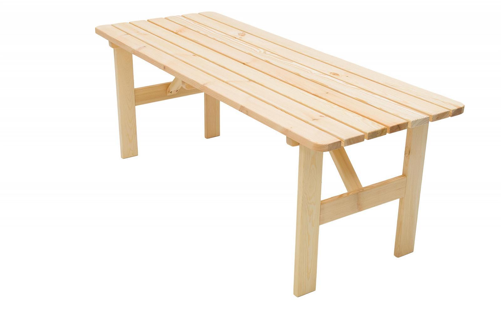 Masívny stôl z borovice drevo 30 mm (rôzne dĺžky) 200 cm