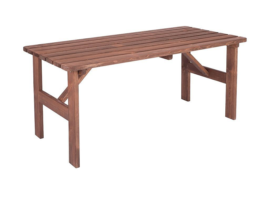 Masívny stôl z borovice drevo moderené 30 mm (rôzne dĺžky) 200 cm